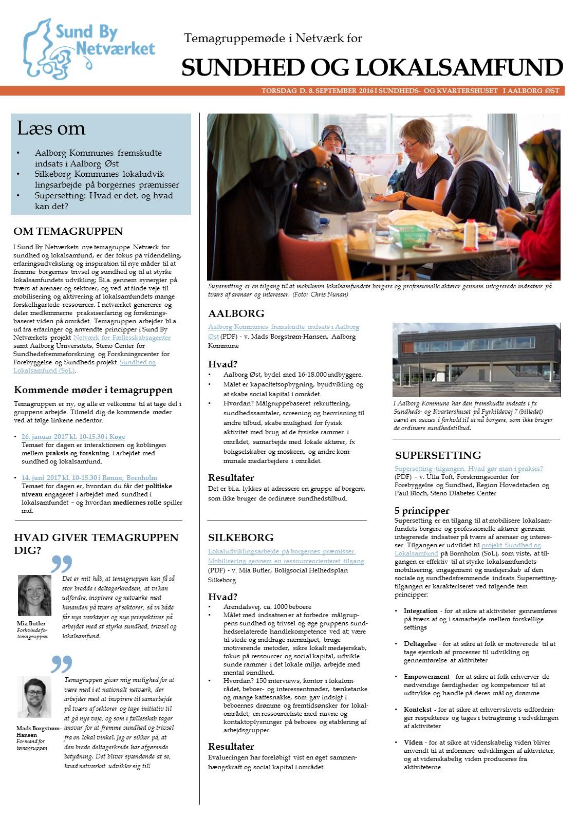 200916 Temagruppemøde Sundhed og lokalsamfund